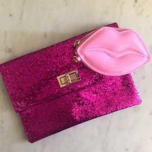 Victoria's Secret and Mossimo Pink Clutches Sequin